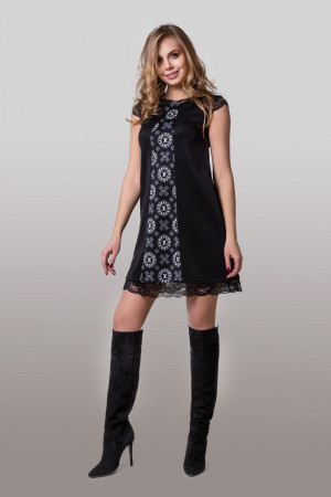 Сукня «Вонда» з чорним принтом