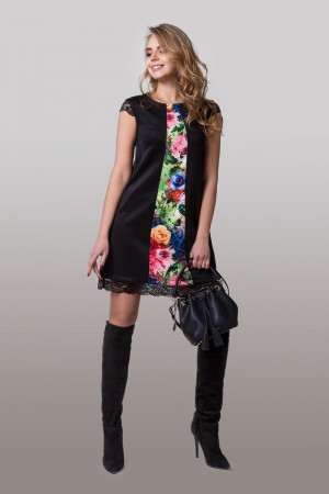 Платье «Вонда» с цветочным принтом