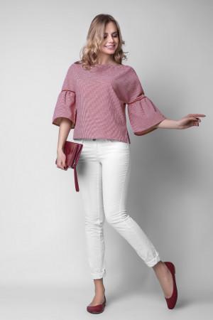 Блуза «Латонья» у червону клітинку