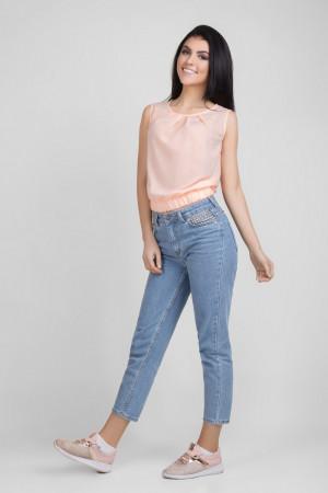 Блуза «Мейбл» кольору пудри