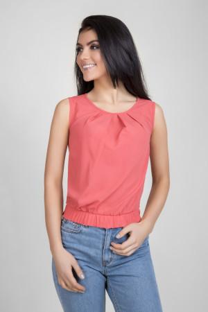Блуза «Мейбл» коралового кольору