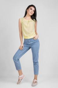 Блуза «Мейбл» желтого цвета