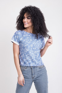 Блуза «Табита» голубого цвета