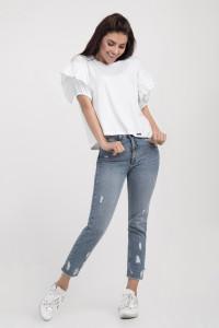 Блуза «Самми» белого цвета