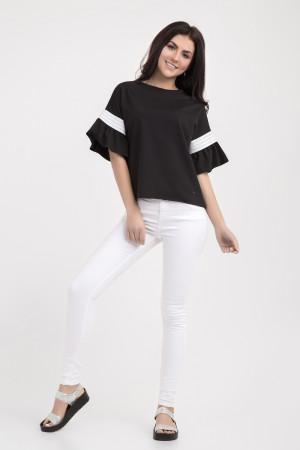 Блуза «Мона» черного цвета