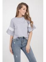 Блуза «Мона» серого цвета