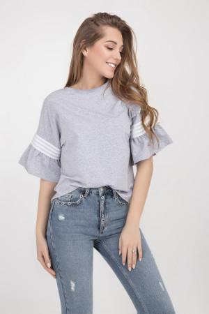 Блуза «Мона» сірого кольору