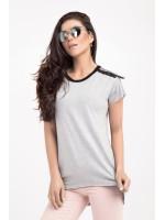 Блуза «Юлія» сірого кольору