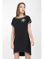 Платье-туника «Зелма» черного цвета