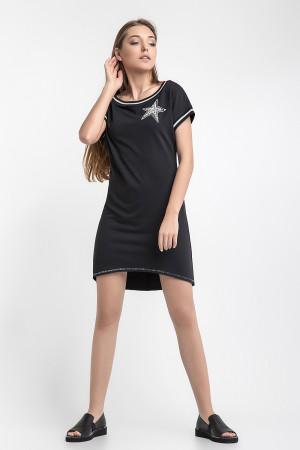 Сукня-туніка «Зелма» чорного кольору
