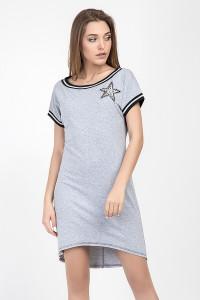 Платье-туника «Зелма» серого цвета