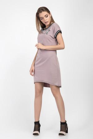 Платье-туника «Зелма» цвета пудры