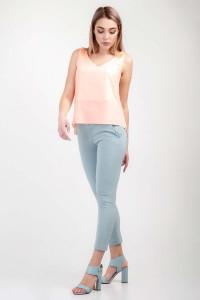 Блуза «Лайза» персикового цвета