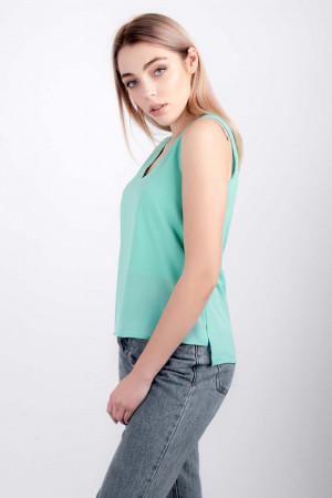 Блуза «Лайза» бірюзового кольору