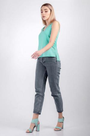 Блуза «Лайза» бирюзового цвета