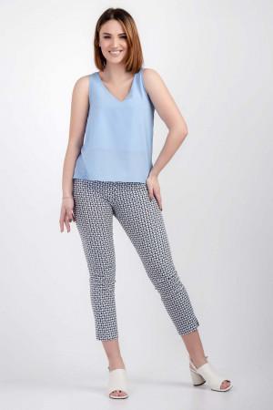 Блуза «Лайза» голубого цвета