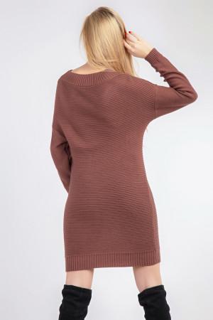 Платье «Белль» кирпичного цвета