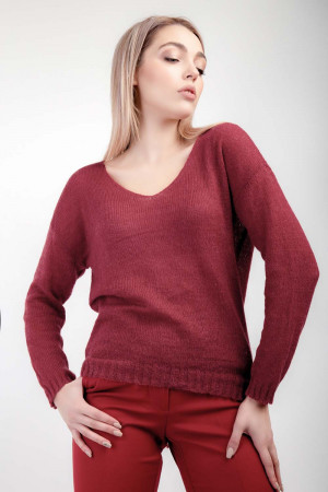 Джемпер «Франческа» красного цвета