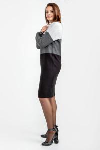 Платье «Келли» серого цвета