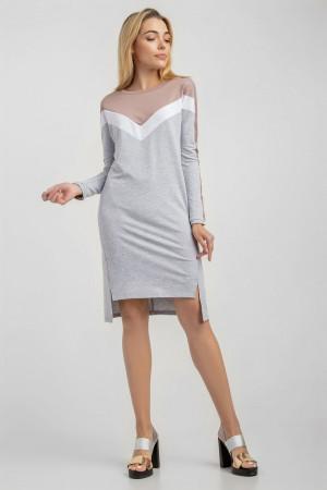 Платье «Пат» серого цвета