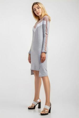 Сукня «Пат» сірого кольору