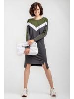 Сукня «Пат» кольору антрацит