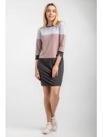 Сукня «Наталі» сіро-рожевого кольору