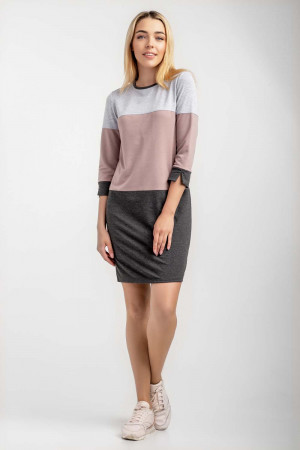 Платье «Натали» серо-розового цвета