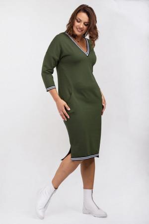 Платье «Айдол» цвета хаки