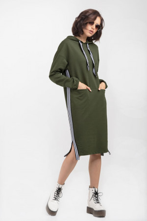 Сукня «Делія» кольору хакі