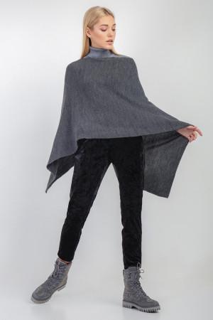 Пончо «Корнелія» темно-сірого кольору