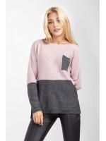 Джемпер «Астер» сірого та рожевого кольорів