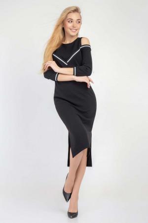 Платье «Бэкки» черного цвета