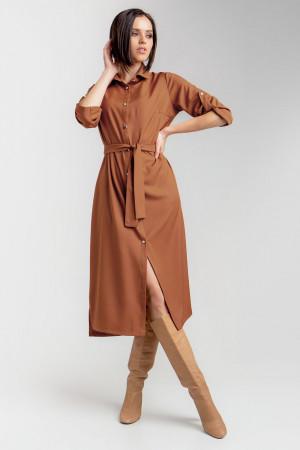 Платье «Ясмина» терракотового цвета