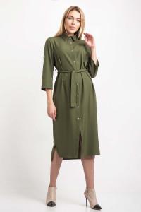 Платье «Ясмина» цвета хаки