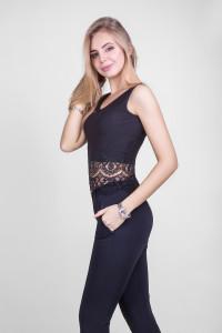 Майка «Луиза» черного цвета