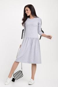Платье «Эбби» серого цвета