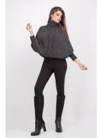 Пончо «Меггі» темно-сірого кольору