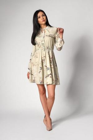 Платье «Сандрин» оливкового цвета