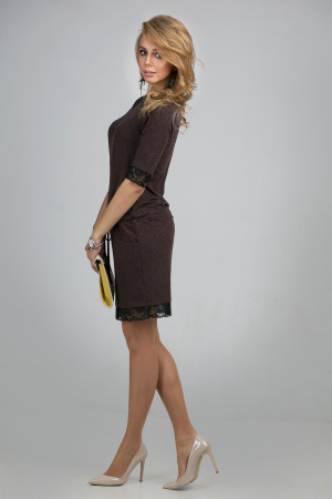 Платье «Ненси» коричневого цвета
