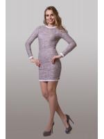 Платье «Фрод» цвета пудровый меланж