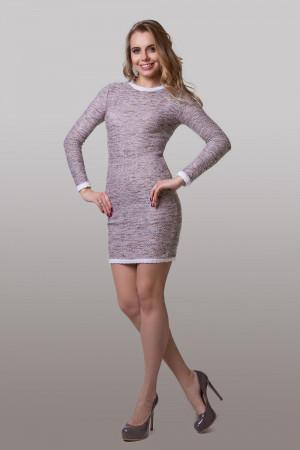 Сукня «Фрод» кольору пудровий меланж