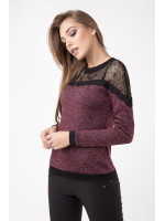 Блуза «Дженні» бордового кольору
