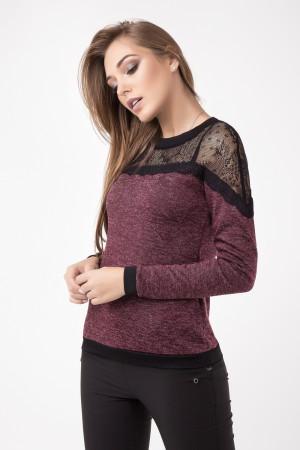 Блуза «Дженни» бордового цвета