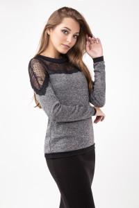 Блуза «Дженни» серого цвета