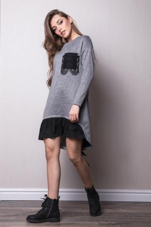 Платье «Менди» серого цвета