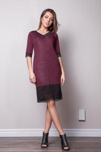 Сукня «Ліліан» бордового кольору