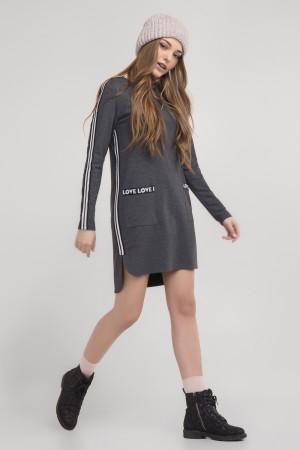Сукня-туніка «Уіллоу» сірого кольору