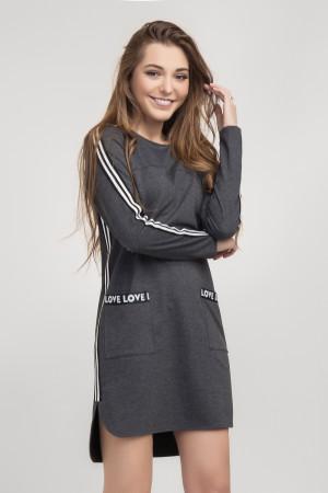 Платье-туника «Уиллоу» серого цвета