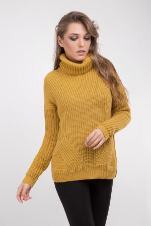 Свитер «Олима» темно-желтого цвета